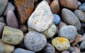 Картинка море, галька, камни, цвет, камешки