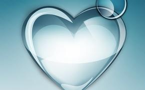 Обои абстракция, фон, капелька, сердечко