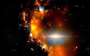 Картинка Dark, Stars, Space, Galaxy, Side, Meteorites