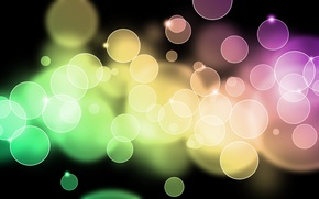 Картинка свет, круги, абстракция, узоры, краски, colors, light, circles, patterns, 1920x1200, боке, bokeh, abstraction
