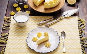 Картинка лимон, чизкейк, безе
