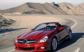 Картинка дорога, машины, красный
