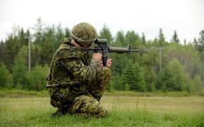 Картинка оружие, выстрел, солдат, Canadian Army