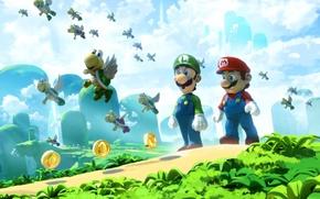 Картинка Замок, Марио, Mario, Luigi