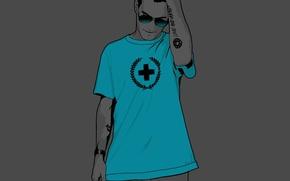 Обои крест, Вектор, футболка