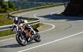 Картинка скорость, мотоцикл, moto, KTM, 2013, 390 Duke, движение.