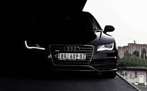 Обои black, Audi