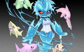 Картинка Sexy, Anime, Ecchi, aGoGos, Tinies, Animal Ears, Sharknado