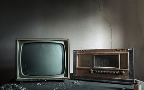 Картинка фон, радио, телевизор