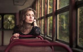 Картинка девушка, мечты, трамвай, грёзы, Eugene Kondratov, Dream girl