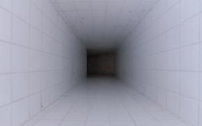 Картинка белый, тьма, коридор