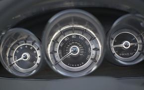 Обои Стрелки, панель, Спидометр, Концепт, Lincoln MKT