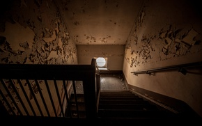 Картинка интерьер, окно, лестница