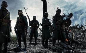 Картинка война, игра, солдаты, Electronic Arts, Battlefield 1