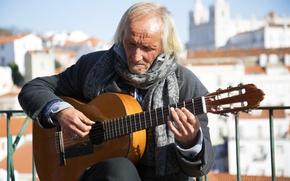 Картинка музыка, улица, человек, гитара