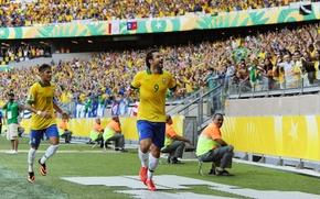Картинка футбол, Бразилия, Nike, Football, Гол, Brasil, Neymar, Нападающий, Goal, Goaal, Confederation Cup 2013, Fred, Фред, …