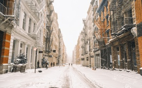 Обои winter, snow, New York