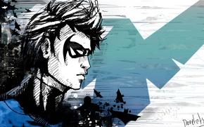 Картинка art, dc universe, DC Comics, Дик Грейсон, Найтвинг, Nightwing, dick grayson