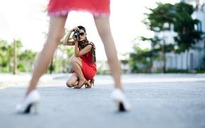 Картинка девушки, улица, ноги