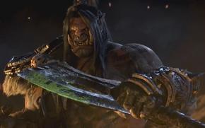 Картинка фентези, арт, Орк, World of Warcraft Warlords of Draenor