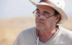 Картинка шляпа, очки, знаменитость, режиссер, сценарист, Oliver Stone, Оливер Стоун