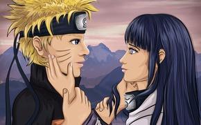 Картинка Love, Любовь, Нежность, Наруто, Naruto, Наруто Арт, 2д арт, Иллюстрация, Naruto Art, Наруто и Хината, …