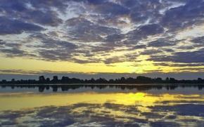 Картинка вода, облака, отражение, Пейзаж