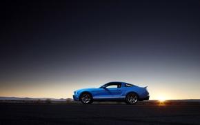 Картинка машины, фото, пейзажи, sunsets, ford shelby gt500 cars, форд шелби