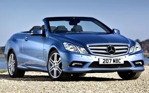 Обои car, wallpapers, blue, mercedes, benz, e-klasse, 250cdi, cabrio, amg