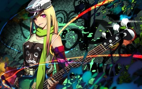 Картинка девушка, абстракция, гитара, арт, erkelee