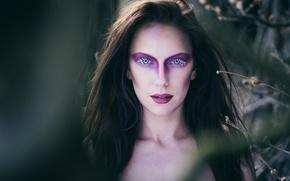 Картинка взгляд, лицо, модель, макияж, Julia