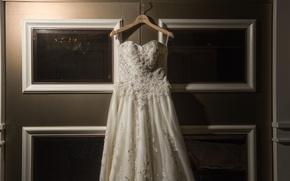Картинка платье, свадебное, вешалка