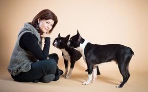 Картинка собаки, девушка, настроение