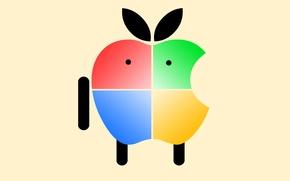 Обои компьютер, apple, яблоко, mac, телефон, ноутбук, windows, гаджет