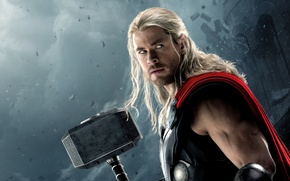 Картинка Action, Fantasy, Clouds, Sky, Hero, Lightning, the, Wallpaper, Blonde, Super, Thor, Boy, God, Year, EXCLUSIVE, …