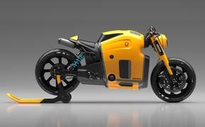 Картинка Concept, Koenigsegg, Yellow, Side, Bike, Wheels, Brake