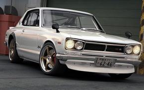 Картинка Япония, арт, Nissan, GT-R, автомобиль, Skyline, R30, dangeruss, Компактный спортивный