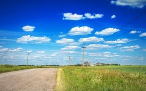 Картинка дорога, природа, Небо