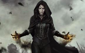 Картинка Девушка, Взгляд, Магия, The Witcher, CD Projekt RED, The Witcher 3: Wild Hunt, Ведьмак 3: …