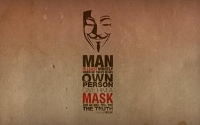 Обои надпись, Anonymous, текстура, цитата, маска, Анонимус
