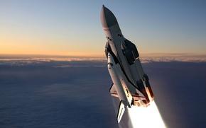 Обои Буран, корабль, ракета, космос, Энергия-Буран