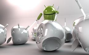 Картинка Apple, Android, Андроид, art, световые мечи, Hi-Tech