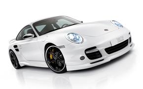 Обои Белый, Porsche, Порше, Автомобиль