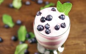 Картинка голубика, dessert, десерт, черника, ягоды, berries, йогурт, sweet, yogurt, fresh