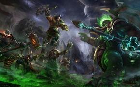 Картинка World of Warcraft, топор, Blizzard, Громмаш, Маннорот, Чернорук, Нер'зул, Гул'дан, Warlords of Draenor, Темный портал
