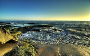 Обои море, волны, песок
