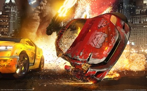 Картинка авария, огонь, гонки, death track resurrection