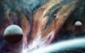 Картинка космос, рисунок, планета