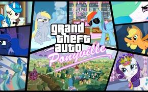 Картинка GTA, My little pony, MLP:FIM, Grand theaft auto, Equestria, MLP