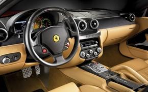 Обои феррари, GTB, Ferrari 599, салон